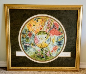 Beautiful Framed Lithograph By Marc Chagall