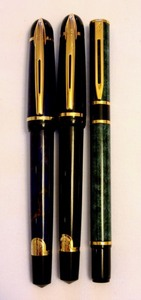 Three Collectible Vintage Waterman Fountain Pens