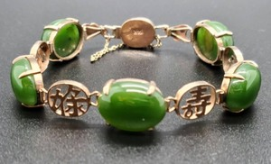 Women's Asian Inspired 14K Jade Bracelet