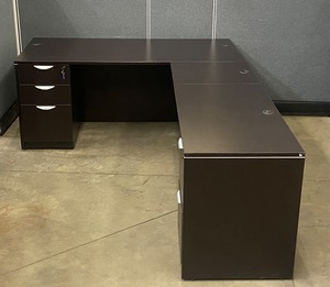 3-Piece L-Shaped Office Desk