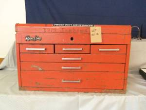 Red toolbox with 6 drawers...