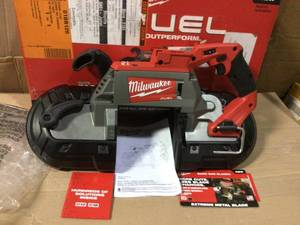 M18 FUEL 18-Volt Lithium-Ion Brushless Cordless Deep Cut Band Saw (Tool-Only) by Milwaukee in good  condition