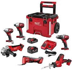 Milwaukee 2697-26PO M18 6-Tool PACKOUT Combo Kit in good conditions