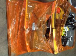 Pallet of Ryobi Chainsaws various sizes and conditions see pictures