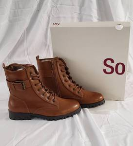 1 pair new sz 7.5 So Brand brown combat boots