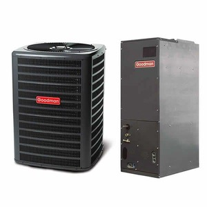 Goodman 2 Ton 14 SEER Heat Pump Air Conditioner System, GSZ140241 - LOW $300.00 RESERVE!