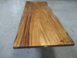 "Solid Wood Rectangle Walnut Dining Table (104422364) With Metal T Bases (MTBD) Approximate Dimensions 104"" x 42"" x 2 1/2"" - LOW RESERVE OF $900.00."