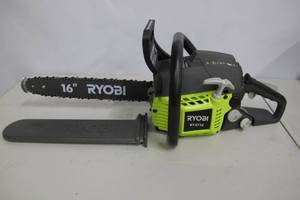 Ryobi-16 in. 37cc 2-Cycle Gas Chainsaw with Heavy-Duty Case.