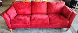 Contemporary Red Sofa