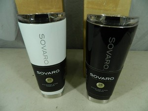 2 New Sovaro Stainless Steel Tumblers