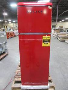Galanz 12.0 cu. ft. Top Freezer Retro Refrigerator with Dual Door True Freezer, Frost Free in Red GLR12TRDEFR