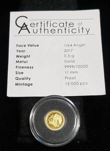 2017 GOLD ANGEL 1/2 GRAM .9999 FINE GOLD