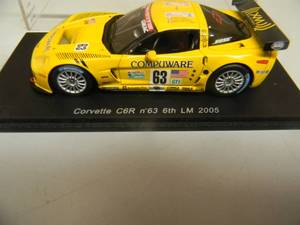 1/43 SCALE DIECAST CORVETTE C6R n 63 6TH LM 2005 - SO171 - R. FELLOWS - J. O'CONNELL - M. PAPIS - NEW! IN CASE! - SEE PICTURES!