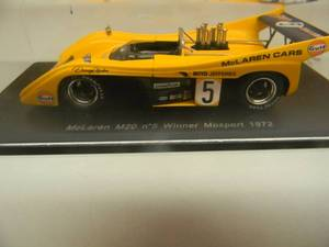 1/43 SCALE DIECAST McLAREN M20  N0. 5  WINNER MOSPORT 1972 D. HULME - S1115 - NEW! - IN CASE! - SEE PICTURES!