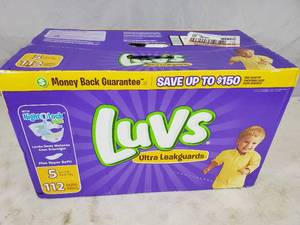 New Case of 112 Luvs Size 5 Diapers