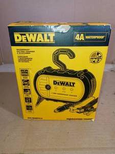 4 Amp Professional Waterproof Battery Charger by Dewalt - open box not used