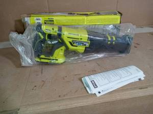 18-Volt ONE+ Cordless Brushless Reciprocating Saw (Tool Only) with Wood Cutting Blade by RYOBI - open box not used