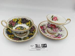 2 1940's Paragon Bone China Cup and Saucer Valued @ $180