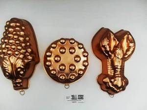 Vintage Copper Jell-O Molds