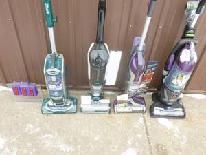 Qty of 4 upright vacuums for parts or repair. No cords. As shown.
