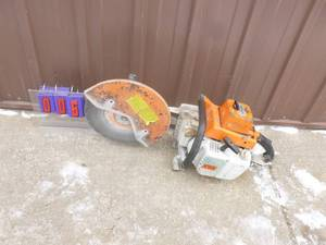 Stihl ts760av concrete saw. Fires on ether. Didn't test any further. As shown. *THIS ITEM HAS A RESERVE.