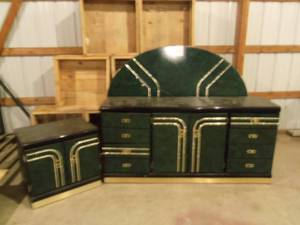 3 pc Bedroom set Green and Black (h...