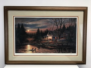 "Terry Redlin - ""Quiet of the Evening"" - Framed - Signed"