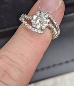 .76 Carat 'Crown of Light' 14k White gold Diamond Ring