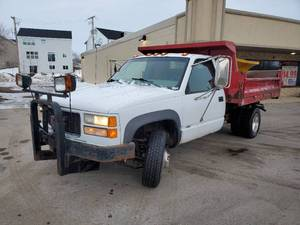 1998 GMC Sierra 3500 Plow Truck with Dump Bed - 1GDJK34R4WF021508
