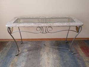 Marble Sofa/Hallway Table