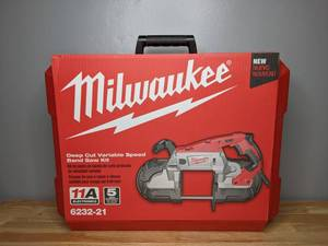 Brand New Milwaukee Deep Cut Variable Speed Band Saw Kit