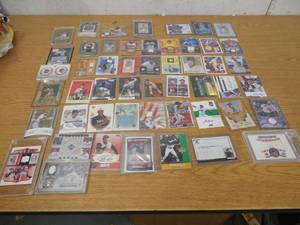 (50) Baseball Jersey / Relic / Autograph Sports Card lot