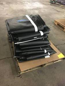Pallet of NEW Various-Sized Heavy Duty Tarps- 8 pieces. Total square footage 4,860 sq. ft. Roughly 335 lbs -Bulk Pallet C1