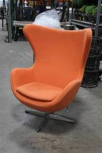 "Swivel Lounge Chair 41"" Orange"