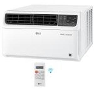 LG 22,000 BTU Dual Inverter Smart Window Air Conditioner with Wi-Fi Enabled and Remote in White not used see pictures