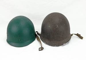 Vintage WWII Korean War Era U.S. M1 Military Helmet With Liner