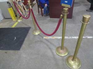 VINTAGE CROWD CONTROL ROPES AND STANDS