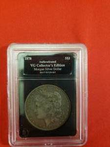 1878 Authenticated Morgan Silver Dollar