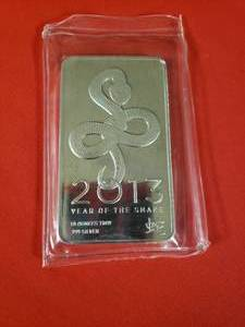 (1) (2013) Year of the Snake Silver Bar