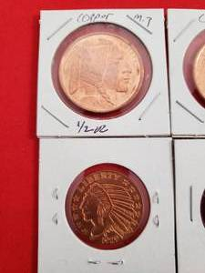 4 copper coins