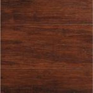 Hand Scraped Strand Woven Brown 3/8 in. T x 5-1/8 in. W x 36 in. L Engineered Click Bamboo Flooring (384 SqFt)