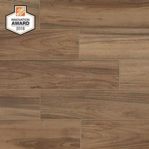 Lifeproof Toffee Wood 6 in. x 24 in. Glazed Porcelain Floor and Wall Tile (509.25 SqFt)