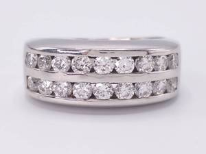 Gentlemen's 2.00 Carat White Gold Estate Ring / Band; $8,750 Retail