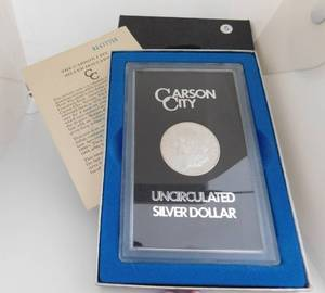 1883-CC Morgan Silver Dollar in GSA holder - with box and COA