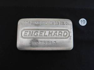 Ten Ounce .999+ Engelhard Silver Bar Serial # P275913