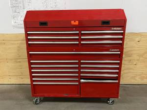 HUSKY 61 in. 18 Drawer Combination Tool Chest and Rolling Cabinet Set in Red