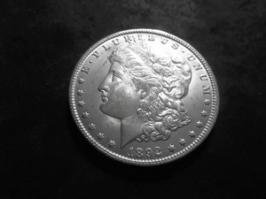 1892 O Morgan Silver Dollar