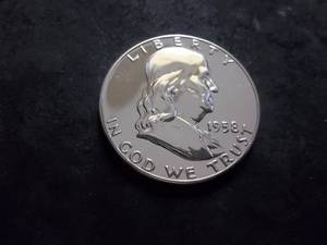 1958 Franklin Half Dollar Proof