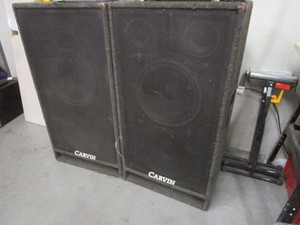 PAIR OF CARVIN PA SPEAKERS