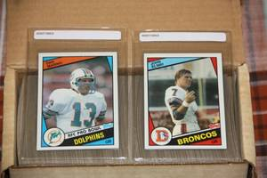 1984 Topps Football Complete Set #3 | John Elway & Dan Marino Rookie Card